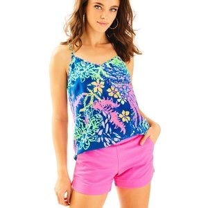 Lilly Pulitzer Textured Adie Shorts in Pink Fusion